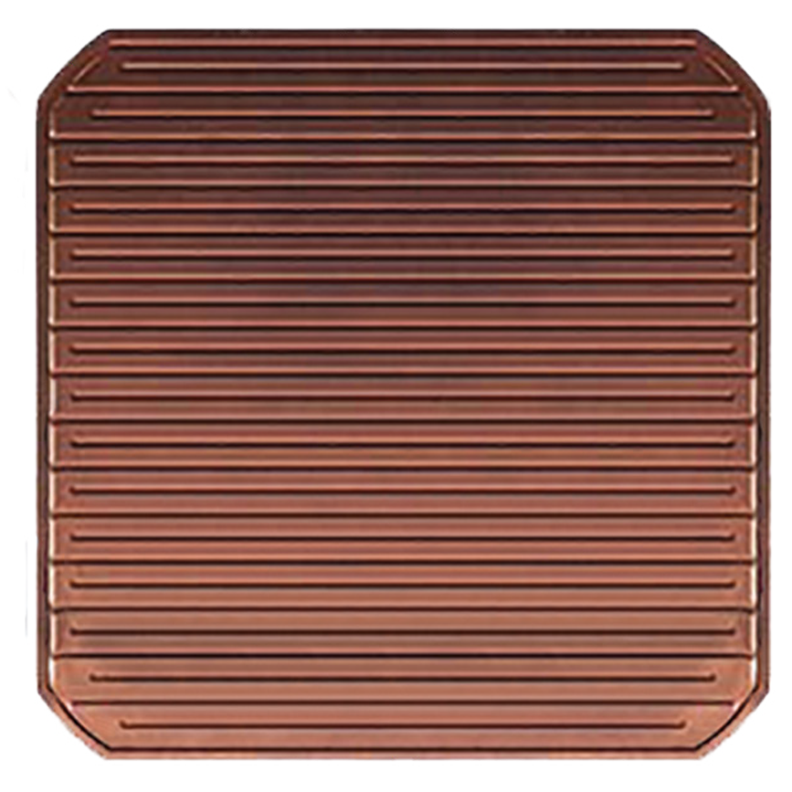 Solid copper solar backing